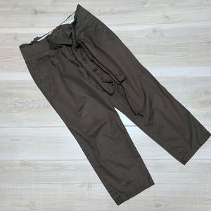 Anthro Cartonnier olive green cropped pants